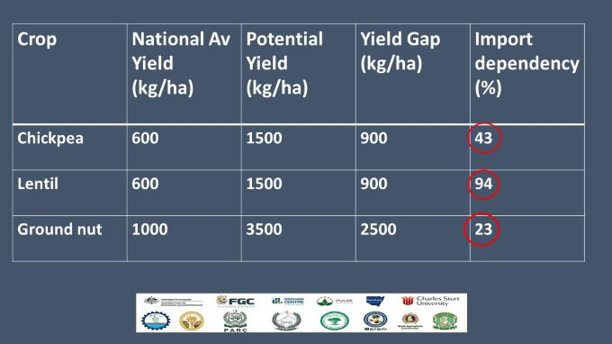 Pulse yield gap and imports