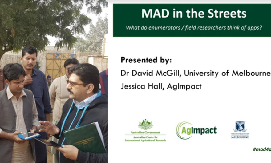 Front slide of MAD in the streets presentation.